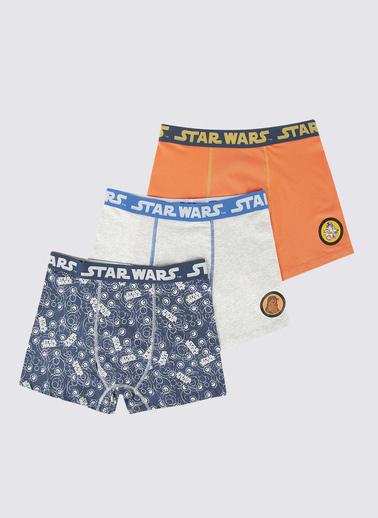 Marks & Spencer 3'lü Star Wars Desenli Trunk Seti Mavi